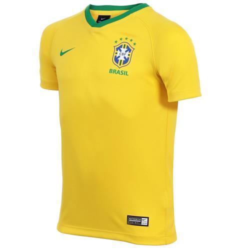 122b89a2ba Camisa Nike Brasil 2018 2019 Torcedor Estádio Infantil