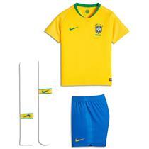 Conjunto Nike Brasil 2018 19 Infantil P 61572acfe1f9d