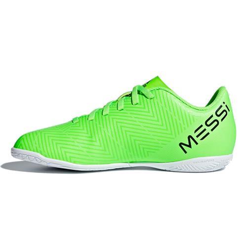 5d3b8e1208e2a Chuteira Futsal Adidas Nemeziz Messi Tango 18.4 Infantil Verde Limão