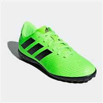 Chuteira Society Adidas Nemeziz Messi Tango 18.4 Infantil Verde Limão 4d0f357277354
