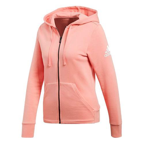 6f828958fec Jaqueta Adidas com Capuz Essentials Solid Rosa Claro Feminina