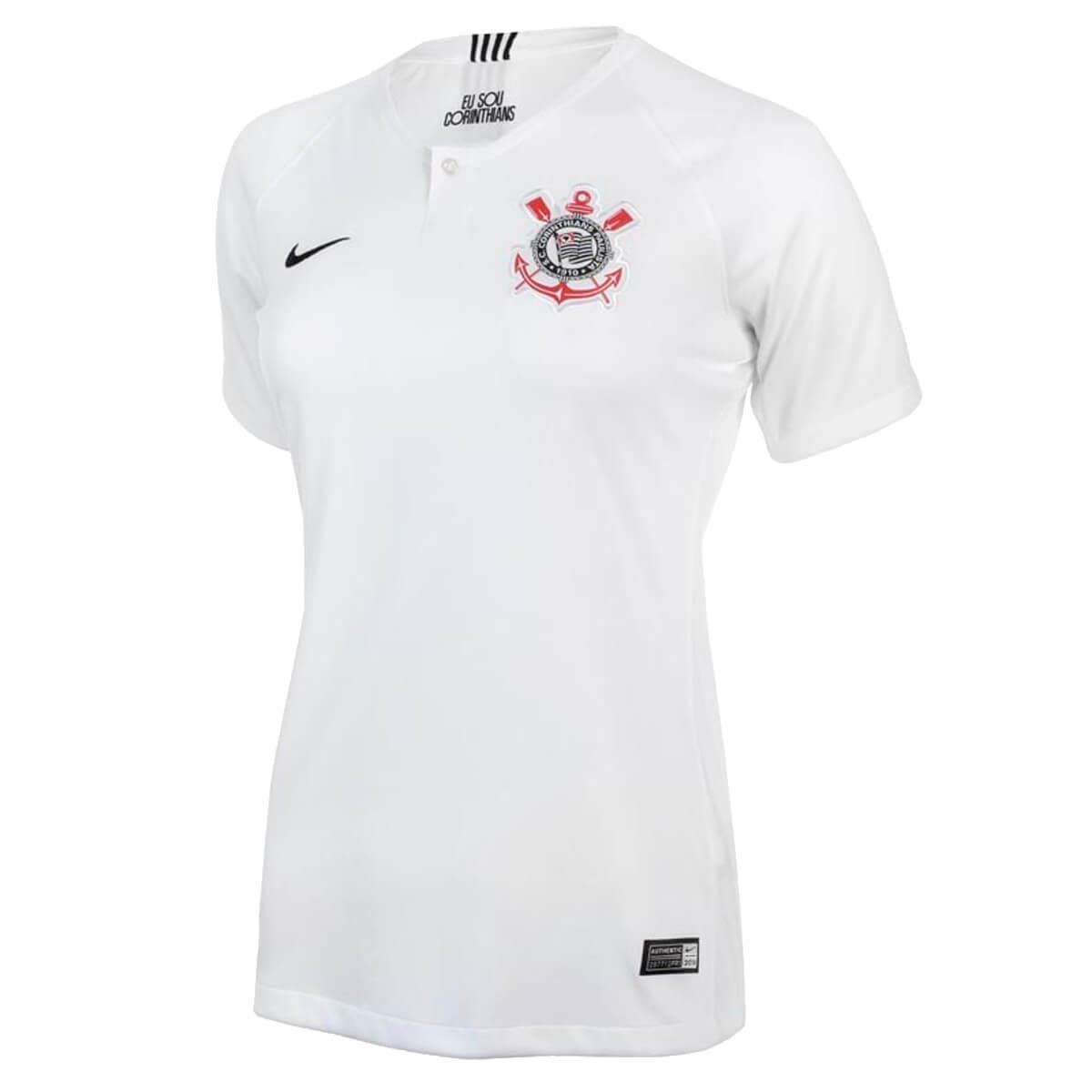 3a0ccd314 Camisa Nike Corinthians I 2018 19 Torcedor Feminina
