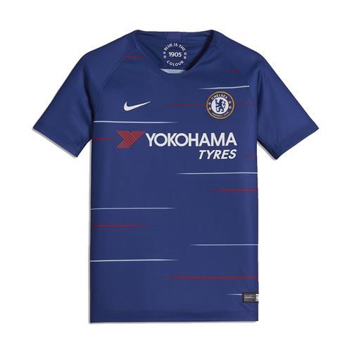 206ac4e1a Camisa Nike Chelsea I 2018 2019 Torcedor Infantil