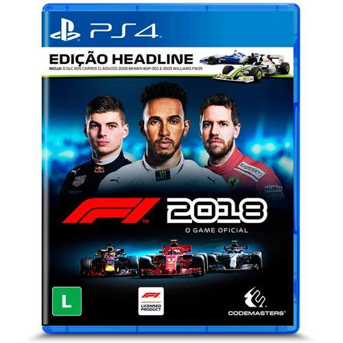 Jogo F1 2018 - Edição Headline - Playstation 4 - Codemasters