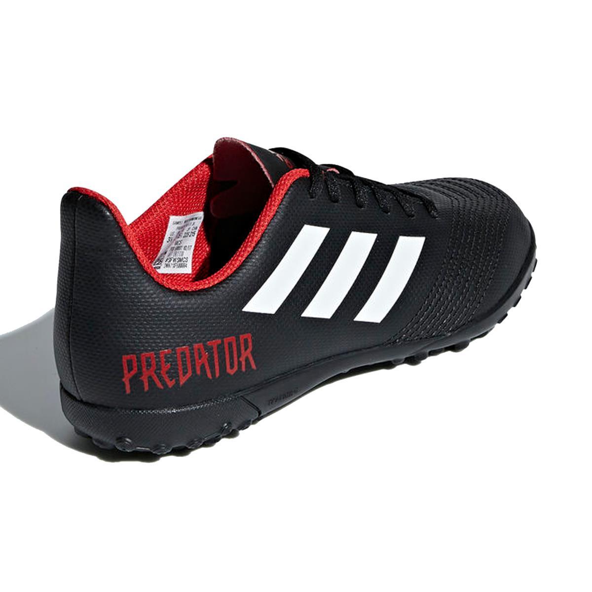chuteira-society-adidas-predator-tango-18-4-infantil-preta b86425b8ba05a
