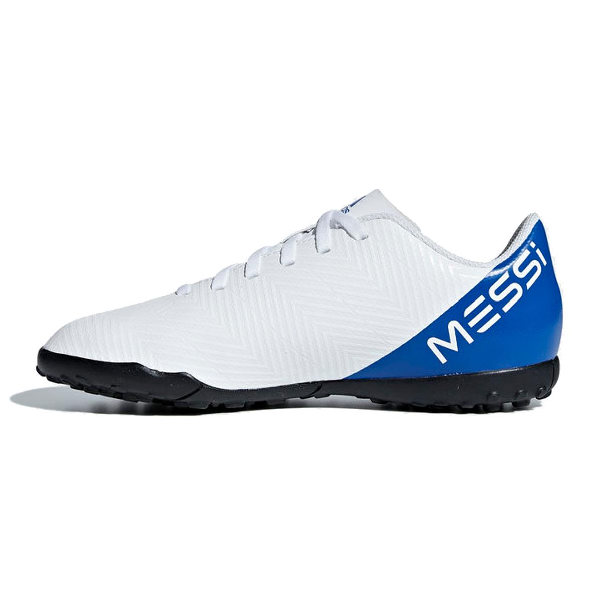chuteira-society-adidas-nemeziz-messi-tango-18-4-infantil-branco-e-azul b537d168445bf