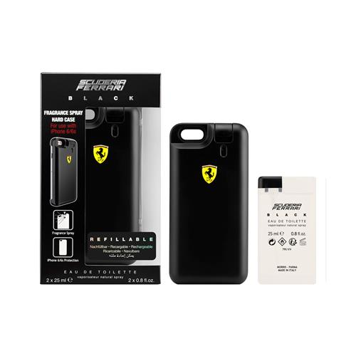 Perfume Scuderia Ferrari Black com iPhone Cover Eau de Toilette 25 ml + Refil 25 ml