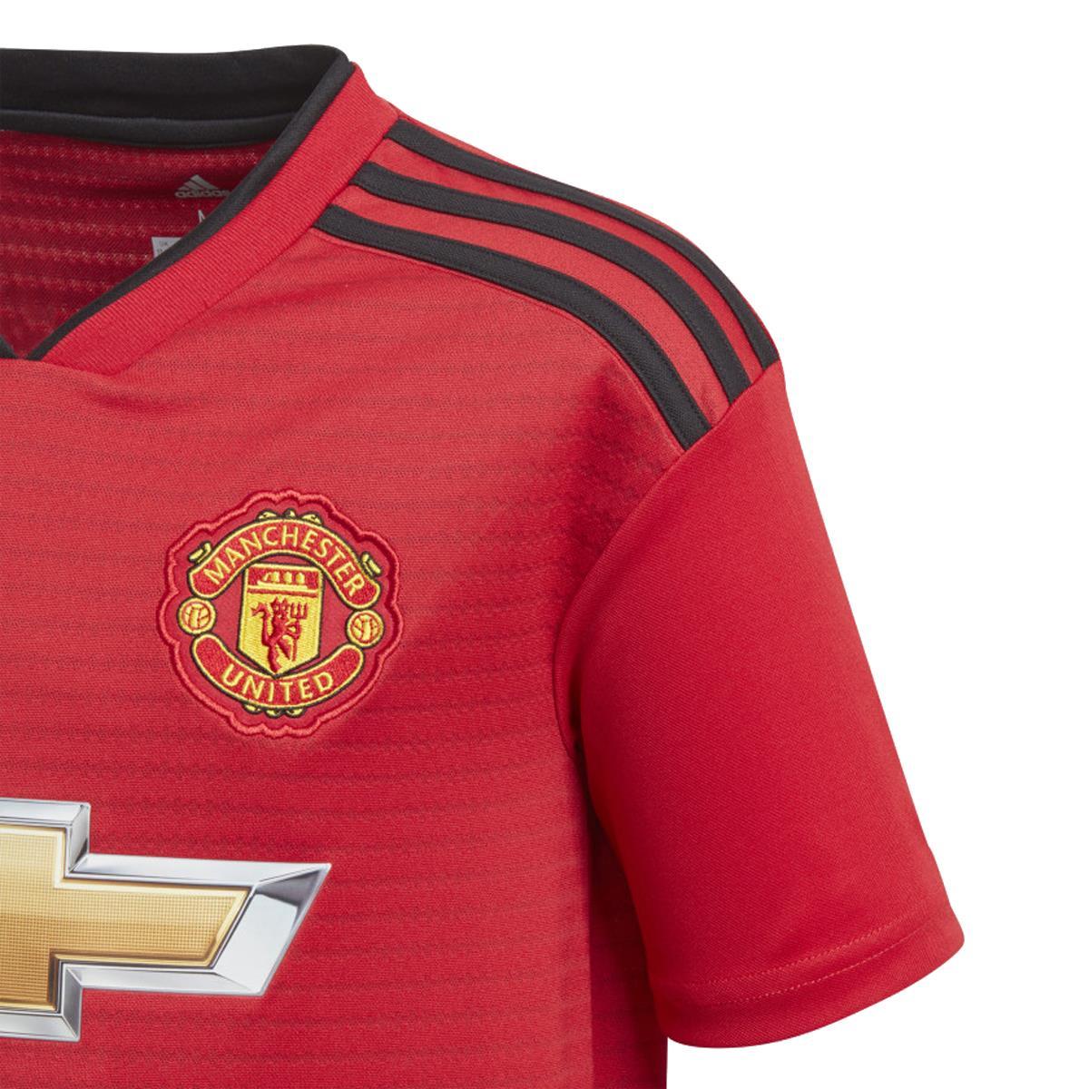 Camisa Adidas Manchester United 2018 Infantil dabce392d3bf3