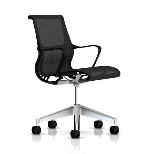 Cadeira Herman Miller Setu Grafite e H-alloy Completa