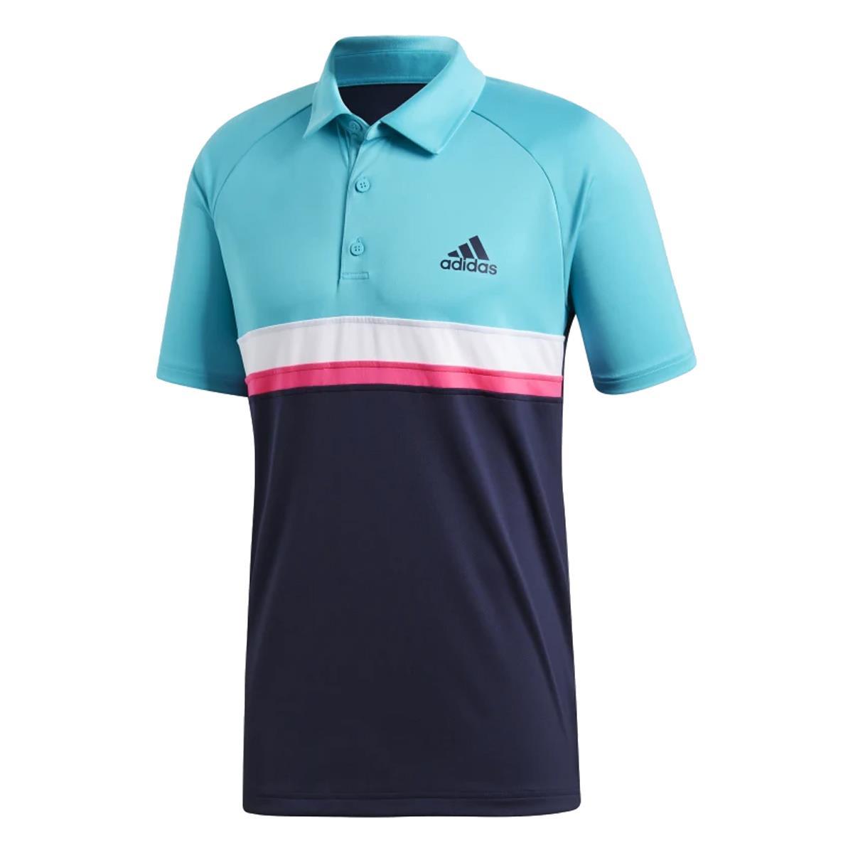 feb71c3f6 Camisa Polo Adidas Colorblock Club Masculina