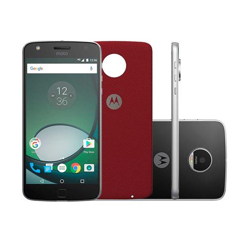"Smartphone Motorola Moto Z Play Style Edition Preto com Prata, Dual Chip, Tela 5.5"", 4G, 32GB, Câmera 16MP + Frontal 5MP e Android 6.0.1"