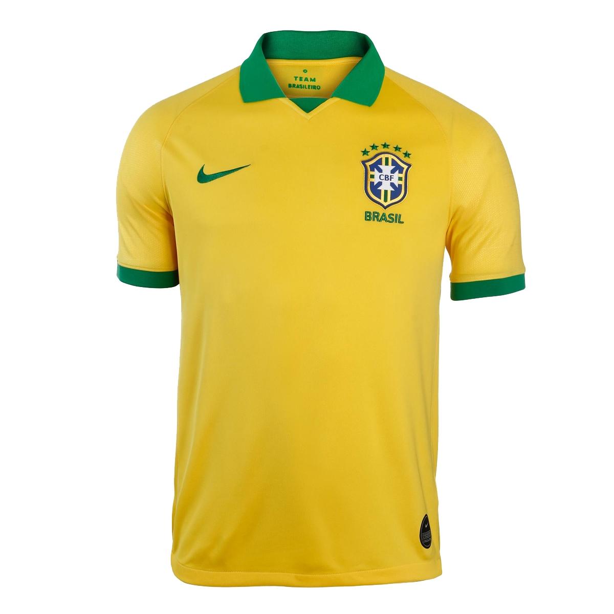 ac5fb2b60aa03 Camisa Nike Brasil Comemorativa Copa América 2019 Torcedor Masculina Amarela