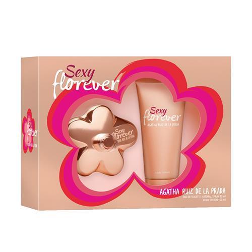 Coffret Agatha Ruiz de La Prada Sexy Florever Feminino - Eau de Toilette 80 ml + Body Lotion 150 ml