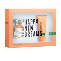 Coffret Benetton United Dreams Stay Positive Feminino - Eau de Toilette 80 ml + Body Lotion 100 ml