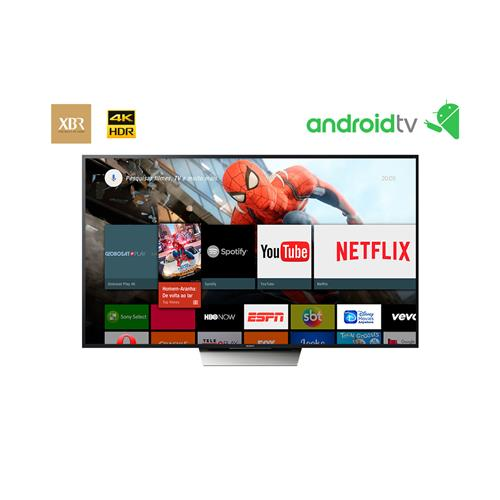 Smart TV LED 4K Ultra HD Sony XBR-X855D com Wi-Fi, HDR, Android TV, Triluminos e Motionflow XR 960