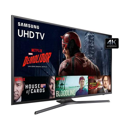 Smart TV LED 4K UHD Samsung KU6000 com Wi-Fi, HDR Premium, PurColor e USB