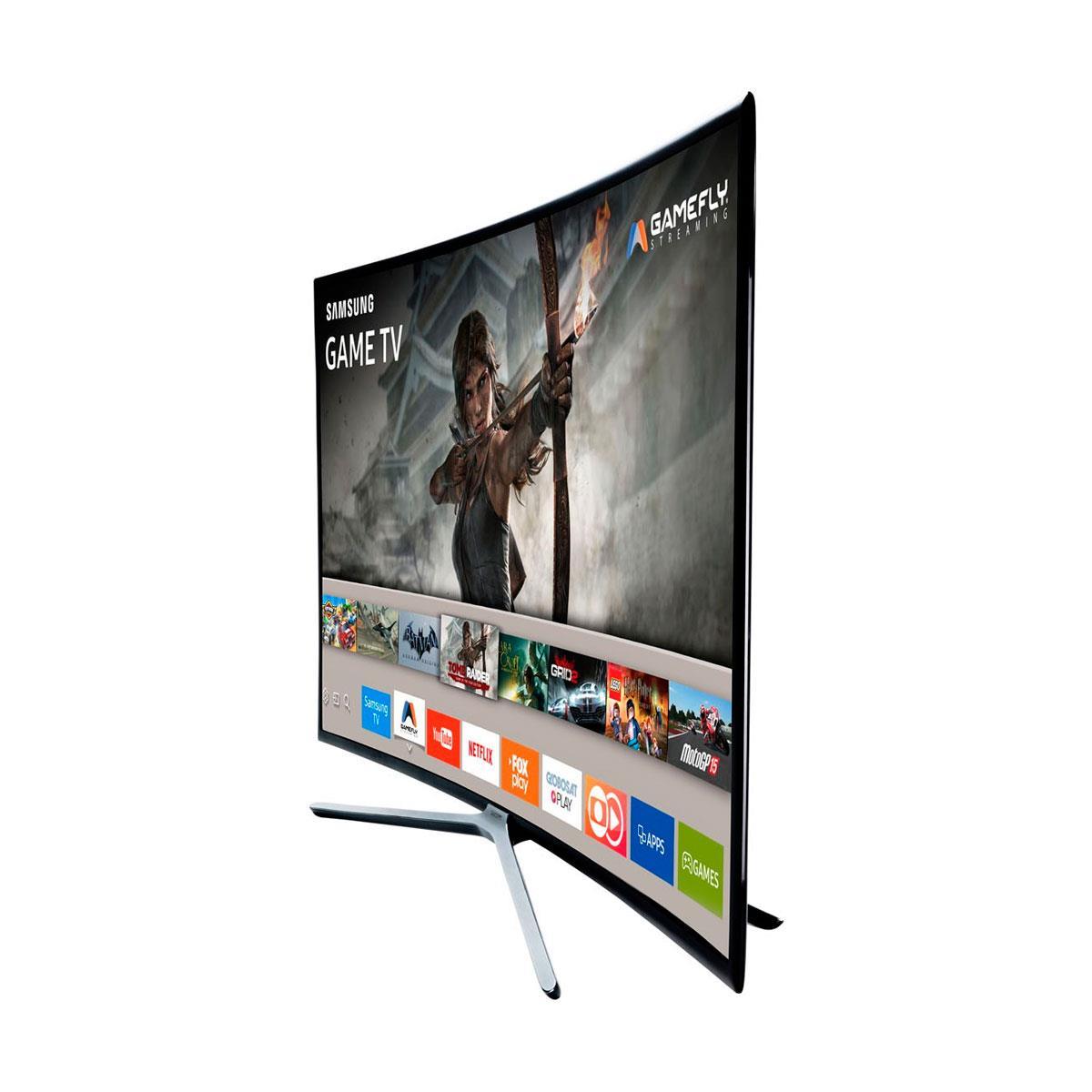 9506118a8 Smart TV Tela Curva LED Full HD Samsung K6500A Game TV com Wi-Fi ...