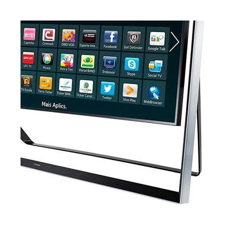 """Smart TV 3D 85"""" LED 4K Samsung S9 UN85S9AGXZD com Wi-Fi, Câmera Integrada e Dolby Digital"""