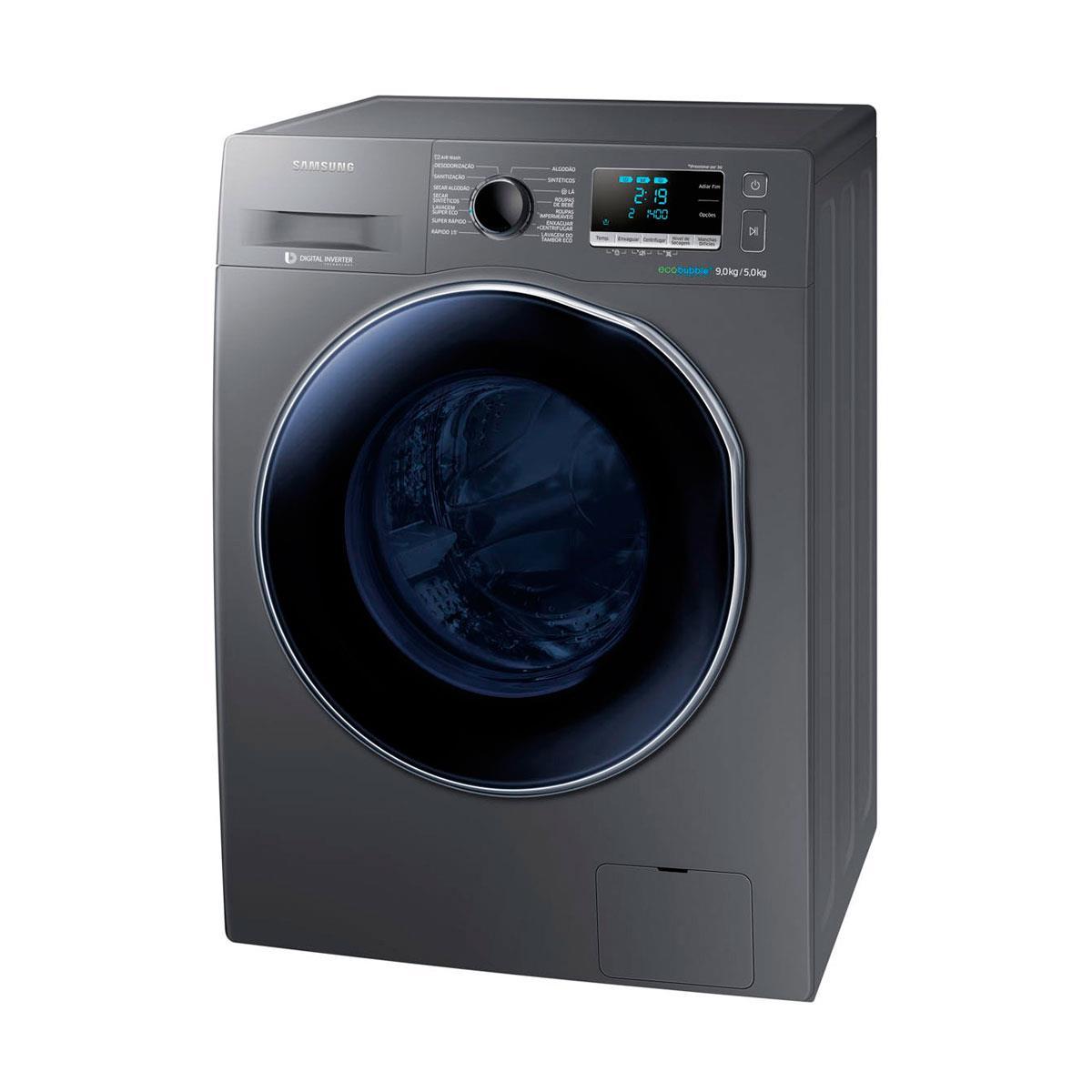 e03398834 Lava e Seca Samsung WD90J6410A 9 kg e 13 Programas de Lavagem