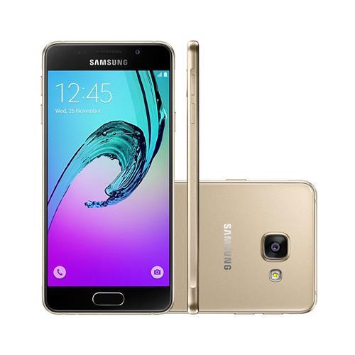 """Smartphone Samsung Galaxy A3 2016 com Dual Chip, Tela de 4.7"""", 4G, 16GB, Câmera 13MP + Frontal 5MP e Andoid 6.0"""