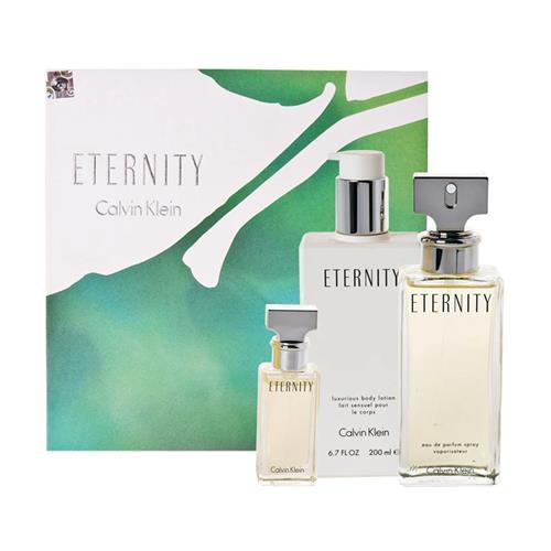 5882586b50 Coffret Calvin Klein Eternity Feminino - Eau de Parfum 100 ml + Miniatura  15 ml + Body ...